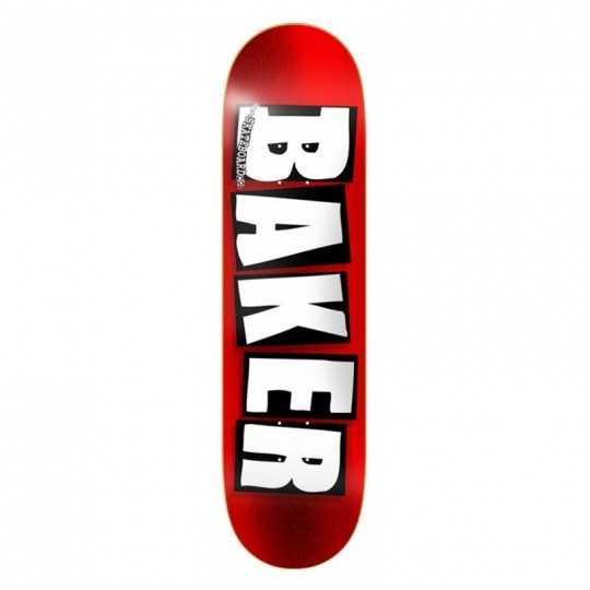 "Plateau skateboard Baker Logo Red Foil 8.25"""