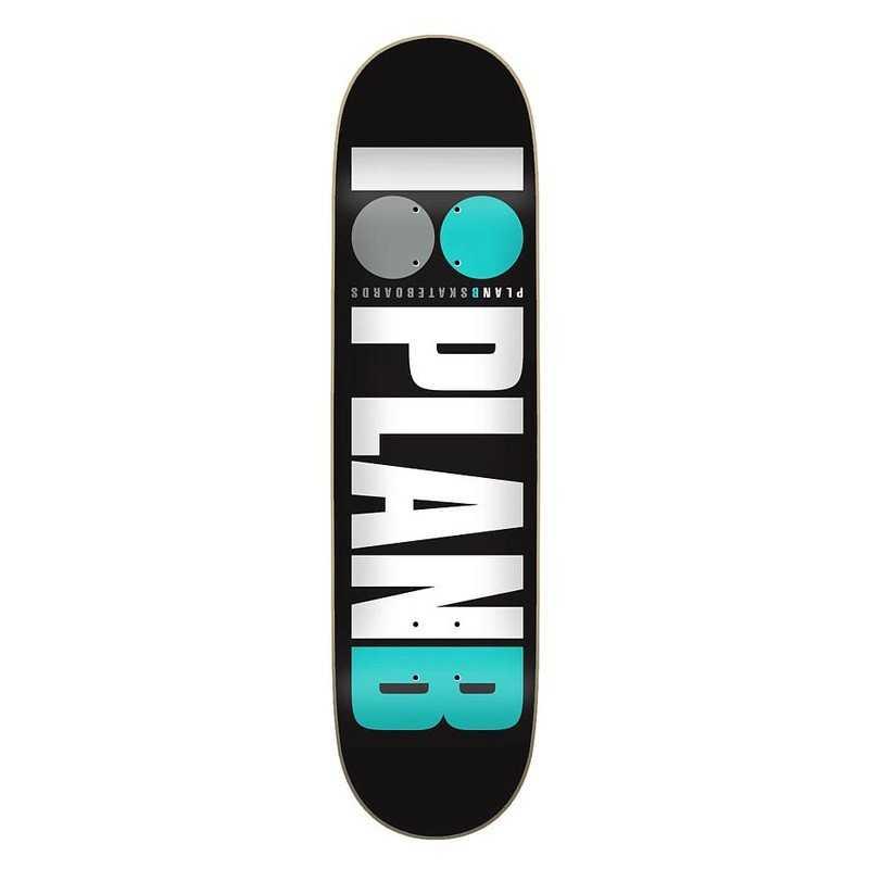 """PLateau skateboard Plan B Team OG 7.75"""" Teal"""