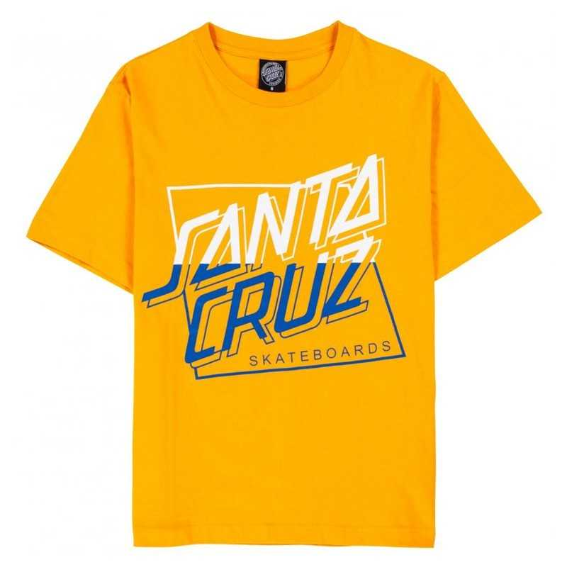 Women T shirt Santa Cruz Squared Custom Tangerine