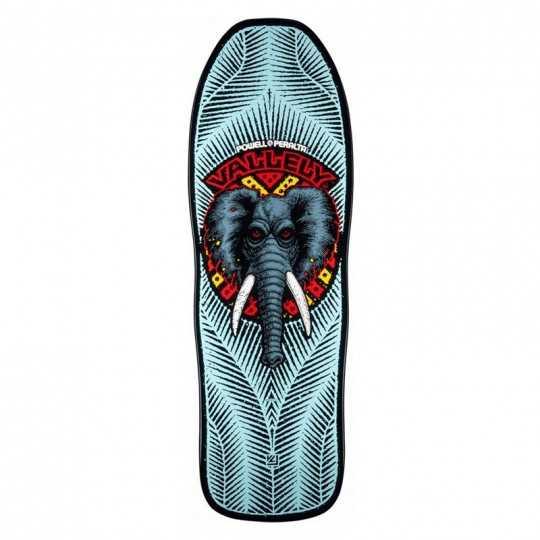 "Powell Peralta Vallely Elephant 10"" Blue Plateau Skateboard"
