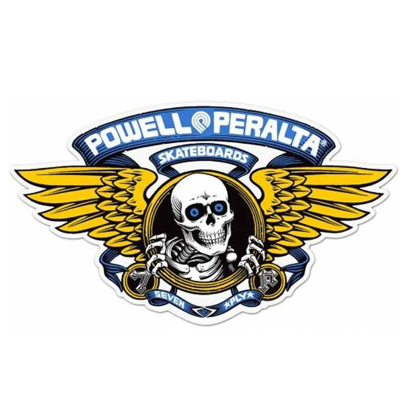 Powell Peralta Winged Ripper 30cm Sticker Blue