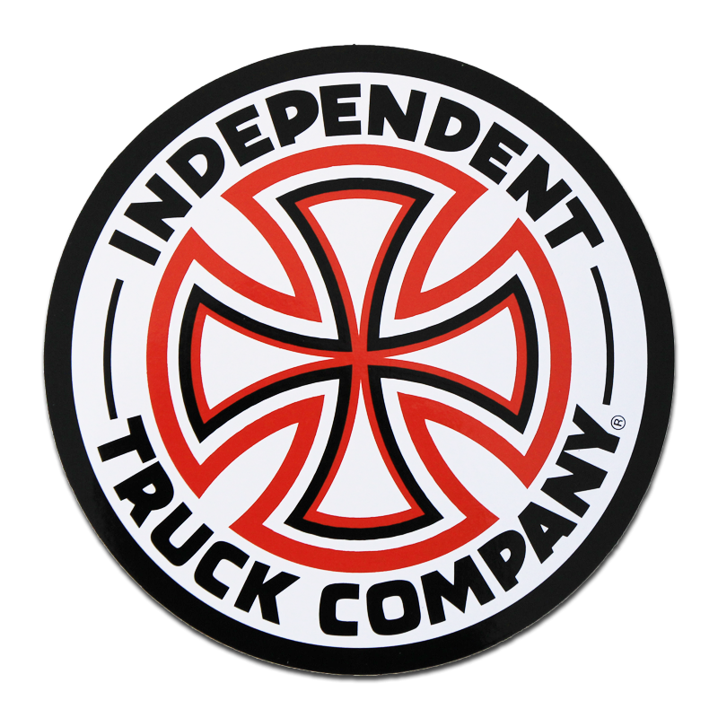 "Independent Cross Logo Red/ White 6"" Sticker"