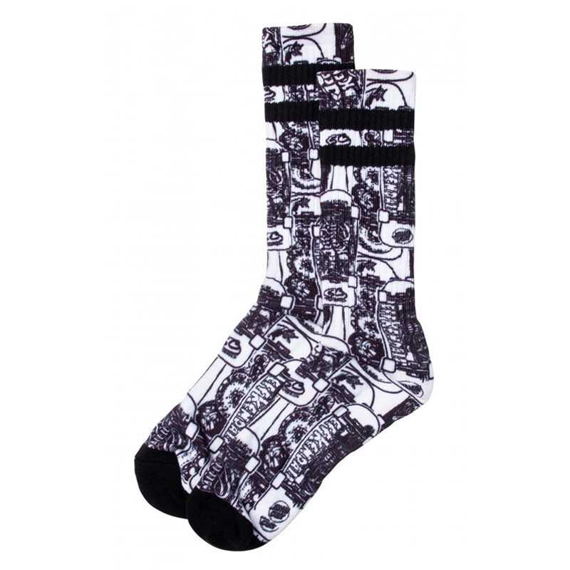 "Santa Cruz ""Kendall"" White/Black Men's Socks"