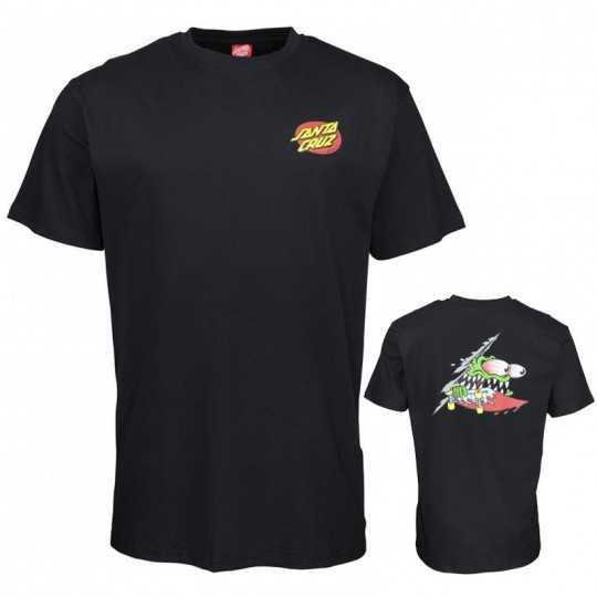 "Santa Cruz ""Slashed"" Black Tee Shirt"