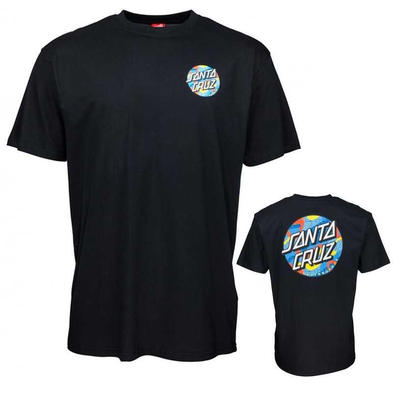 "Santa Cruz ""Primary Dot"" Black Tee Shirt"
