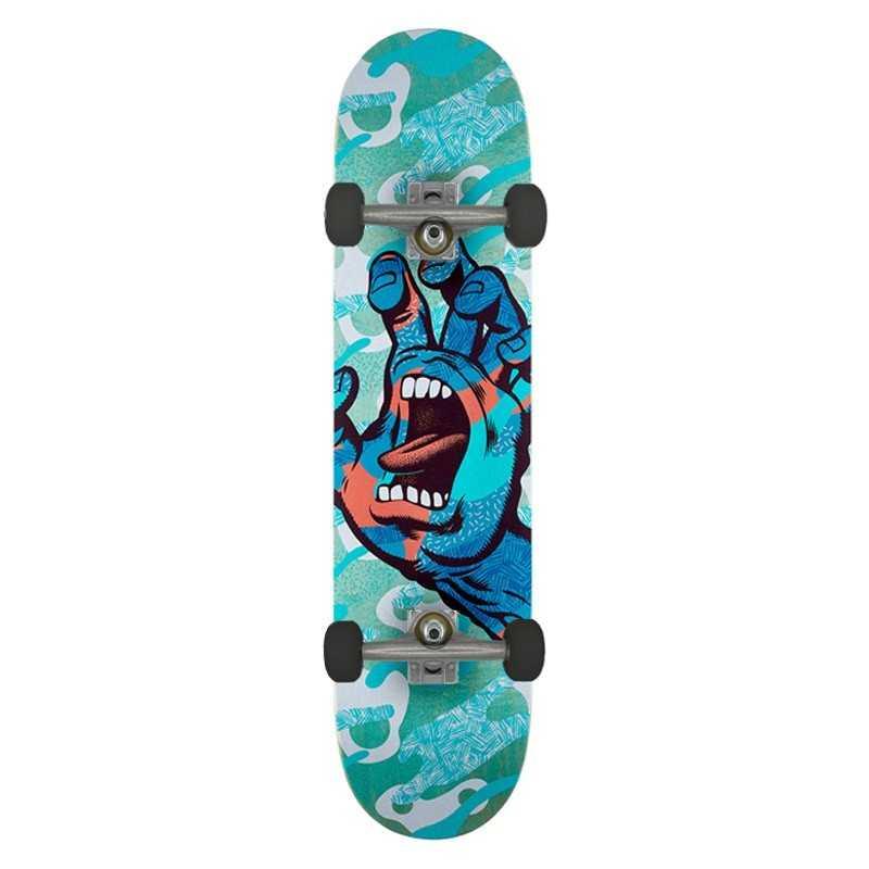 "Santa Cruz Primary Hand 8"" Skateboard complet"