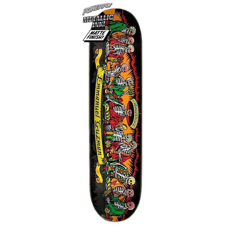"Santa Cruz Powerply Guzman Dining Dead 8.27"" Plateau Skateboard"
