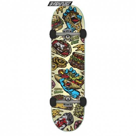 "Santa Cruz Everslick Braun Snacks 8.25"" Complete Skateboard"