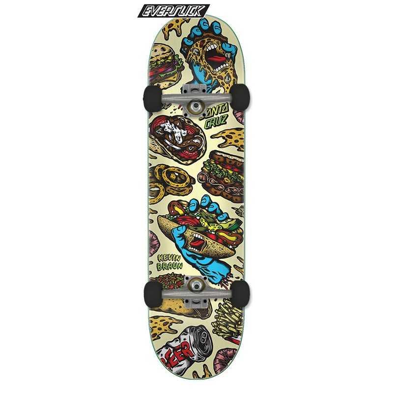 "Santa Cruz Everslick Braun Snacks 8.25"" Skateboard Complet"