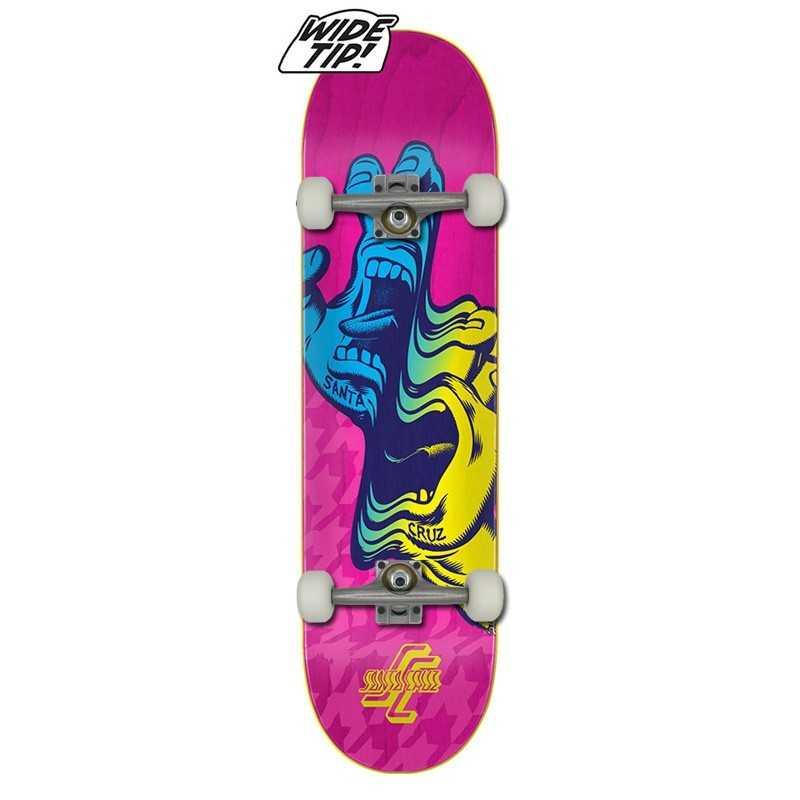 "Santa Cruz Glitch Hand 8.25"" Wide Tip Complete Skateboard"