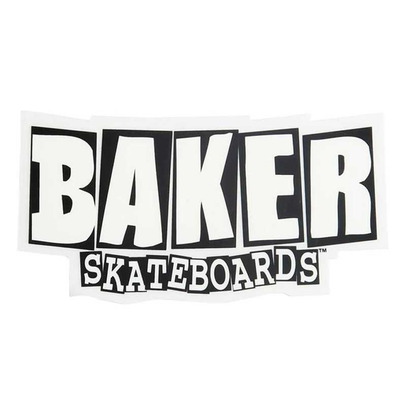 Baker Logo White 10.5cm Sticker
