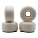 Blank 51mm white skateboard wheels