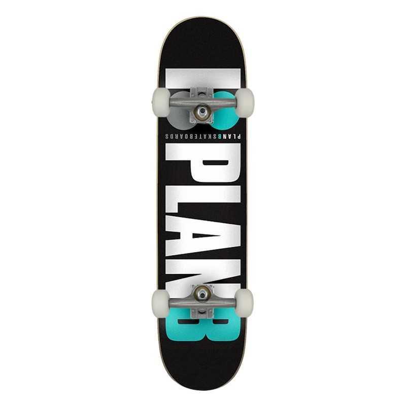 """Plan B Team OG 7.75"""" Teal Complete Skateboard"""