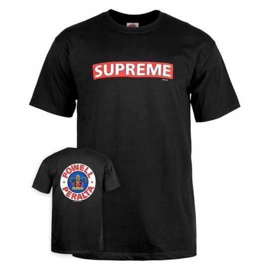 Powell Peralta Supreme Tee Shirt Black