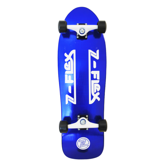Z-Flex 80's Christal Z-Bar Blue Complete Skateboard
