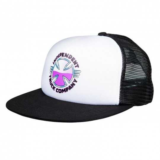 Independent Purple Chrome Mesh Black Cap