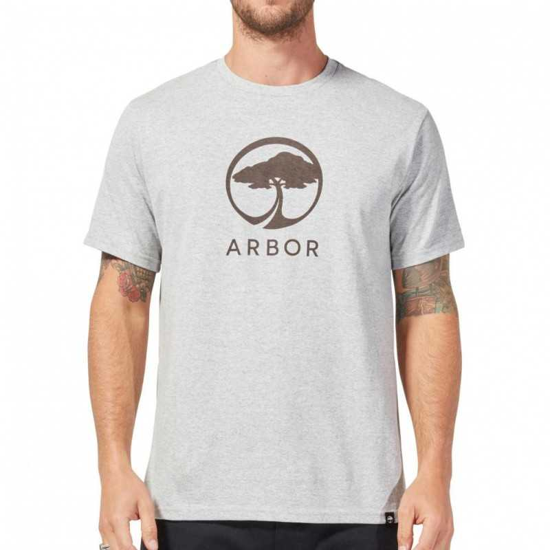 Arbor Landmark Tee Shirt Heather Grey