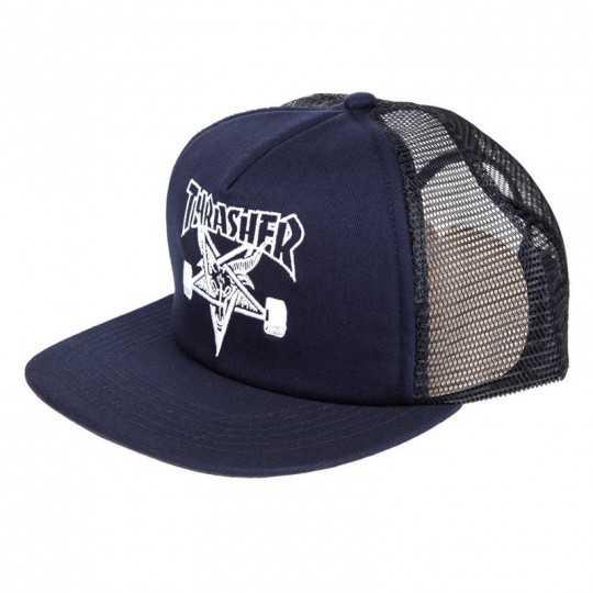 Trasher Skate Goat Mesh Navy Casquette