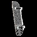 "Powell Peralta Vato Rats 8"" Silver Complete Skateboard"