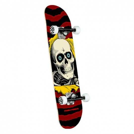 """Powell Peralta Rpper PP 7.5"""" Burgundy Complete Skateboard"""