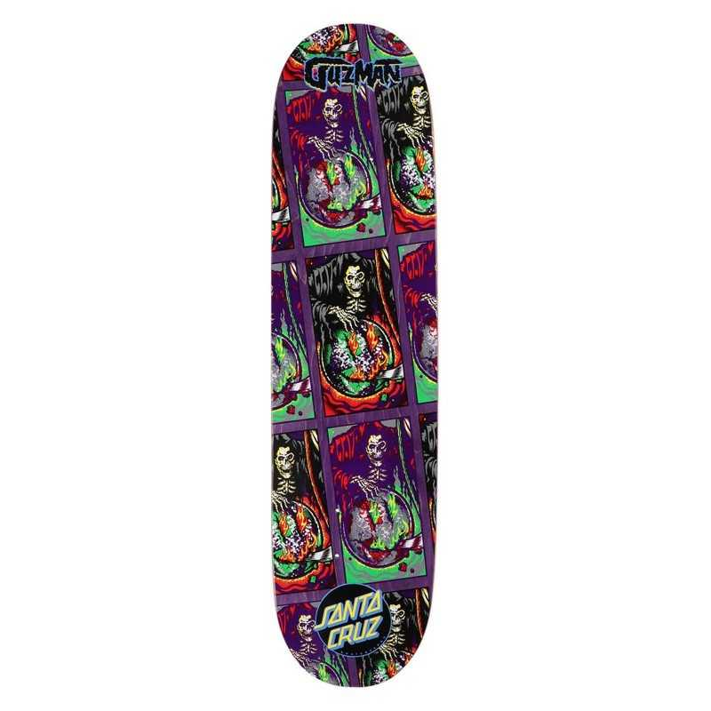 "Santa Cruz Powerply Guzman Smile Tile 8.27"" Plateau Skateboard"