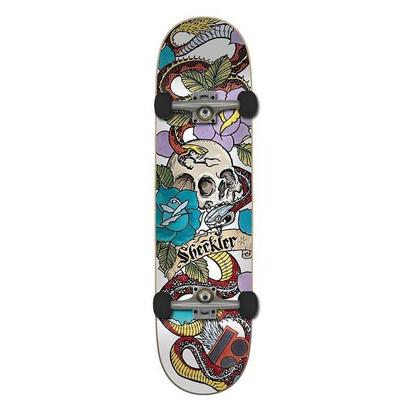"""Plan B Sheckler 8"""" Cranial Complete Skateboard"""
