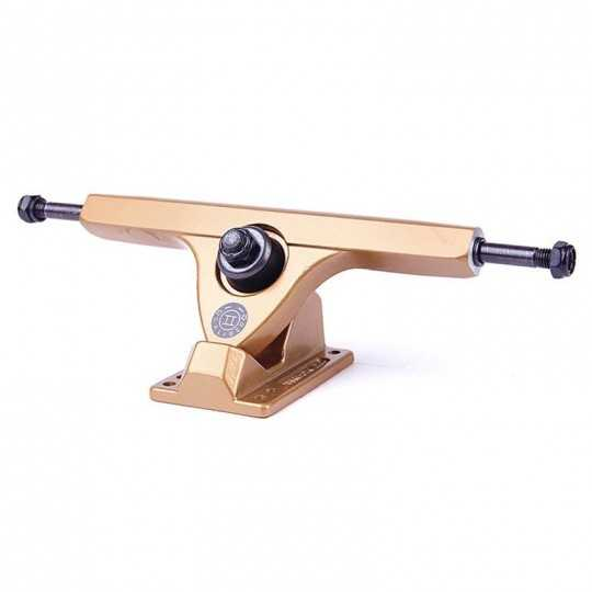 "Caliber 2 Fifty Satin Gold 10"" longboard truck"