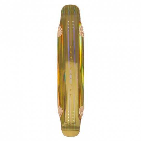 "Landyachtz Stratus 46"" Gold Plateau Longboard dancing"