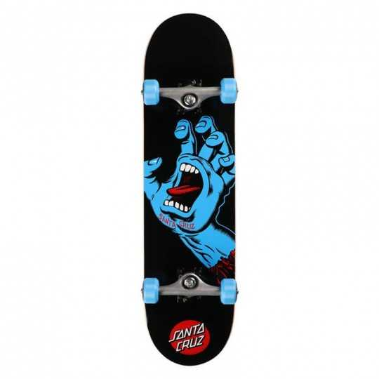 "Santa Cruz Screaming Hand 8"" Black skateboard"
