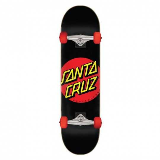 "Santa Cruz Classic Dot 7.25"" Black Skateboard"