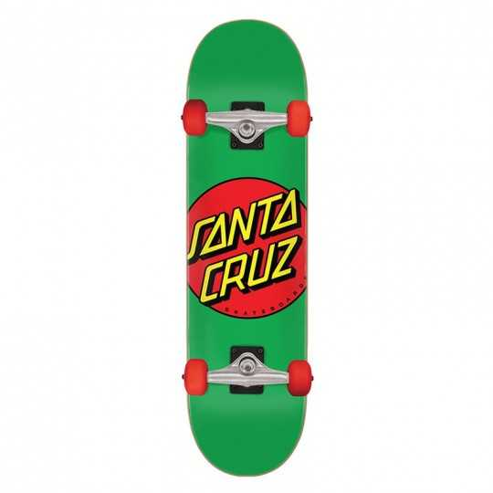 "Santa Cruz Classic Dot 7.8"" Green Skateboard"