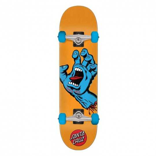 "Santa Cruz Screaming Hand 7.8"" Orange Skateboard"