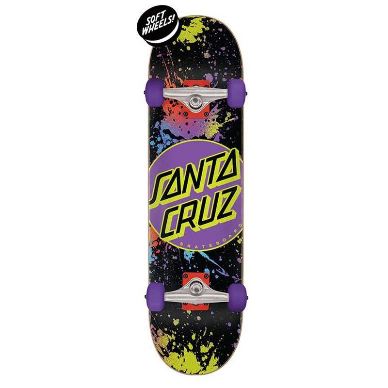 "Santa Cruz Dot Splatter 7.5"" Skateboard"
