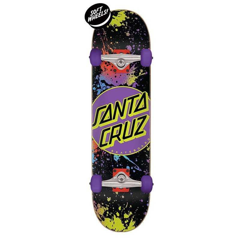 """Santa Cruz Dot Splatter 7.5"""" Skateboard"""