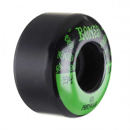 Bones 100's V4 54mm Black N°13 Roues Skateboard