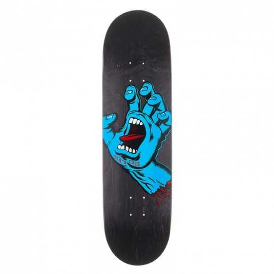 "Santa Cruz Screaming Hand 8.6"" Black Plateau Skateboard"