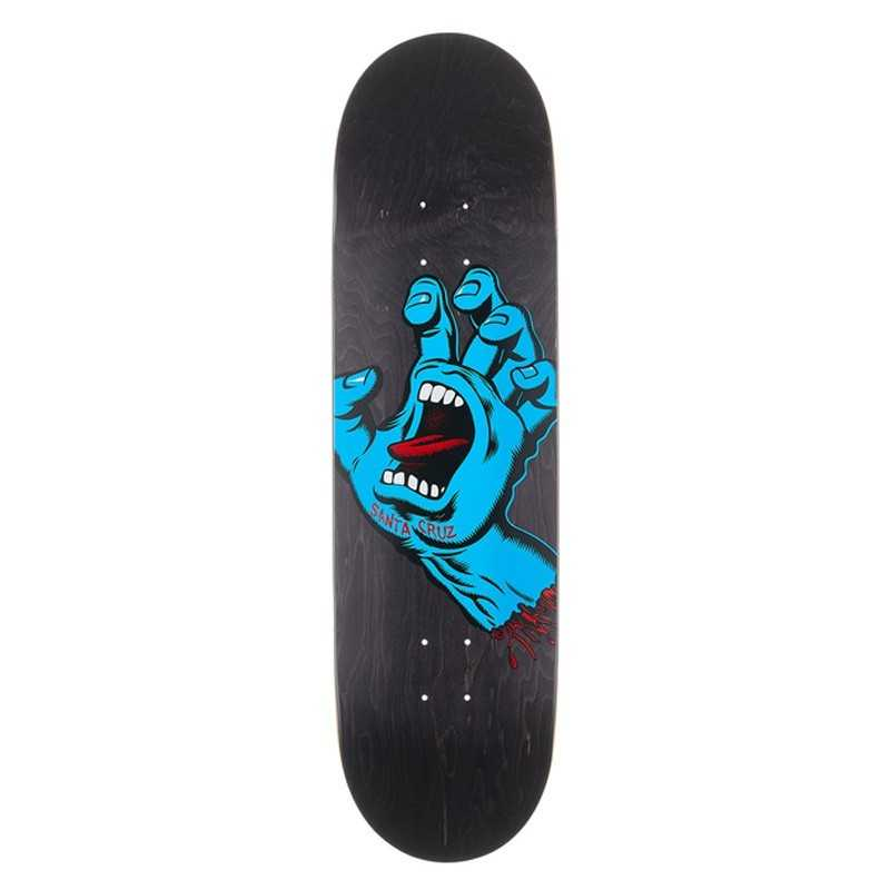 "Santa Cruz Screaming Hand 8.6"" Black Skateboard Deck"