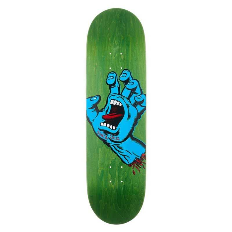 "Santa Cruz Screaming Hand 8.8"" Green Skateboard Deck"