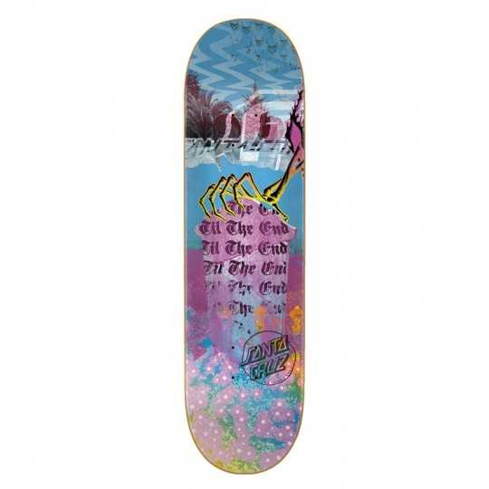 "Santa Cruz Everslick Til The End 8.5"" Plateau Skateboard"