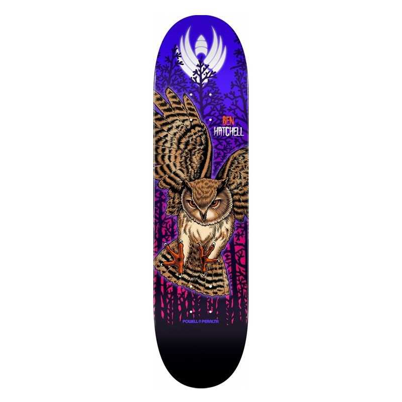 "Powell Peralta Flight Hatchell 8.5"" Owl Plateau Skateboard"