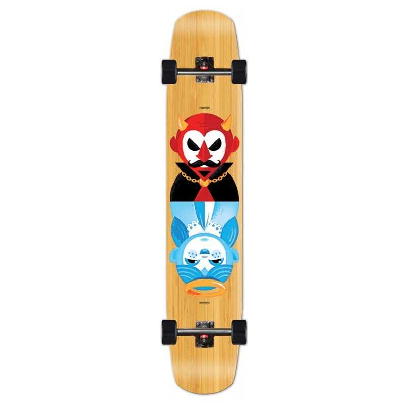 "Madrid Flash 44"" Good & Evil Bamboo Longboard"