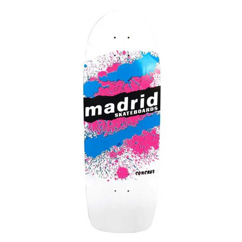 "Madrid Explosion 9.5"" White Skateboard"
