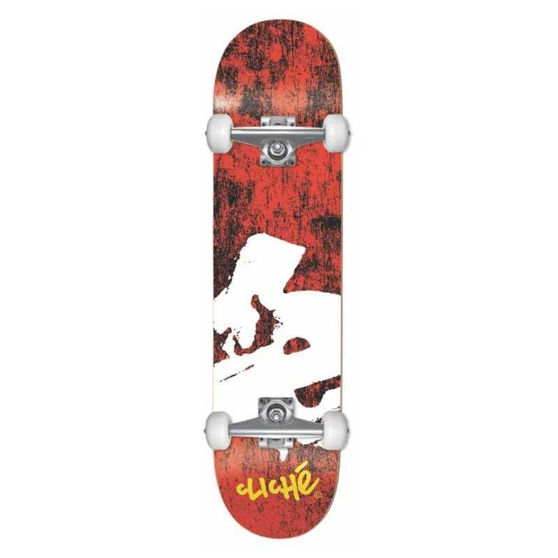 "Cliché Europe Red 7.75"" Skateboard Complet"