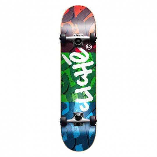 "Cliché RGB 7.87"" Red/Green/Blue Skateboard"
