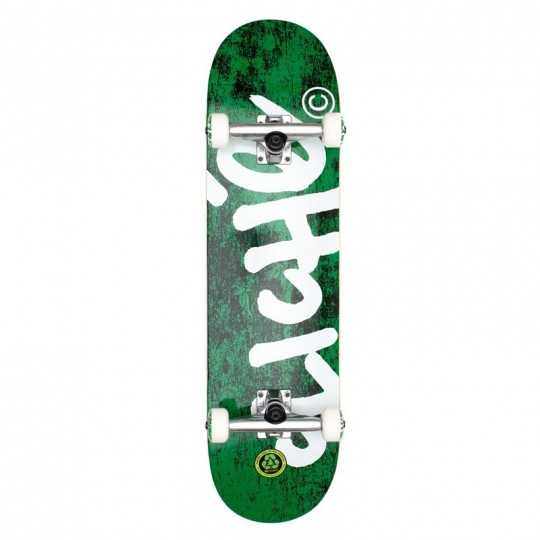 "Cliché Handwritten 8.25"" Green Skateboard"