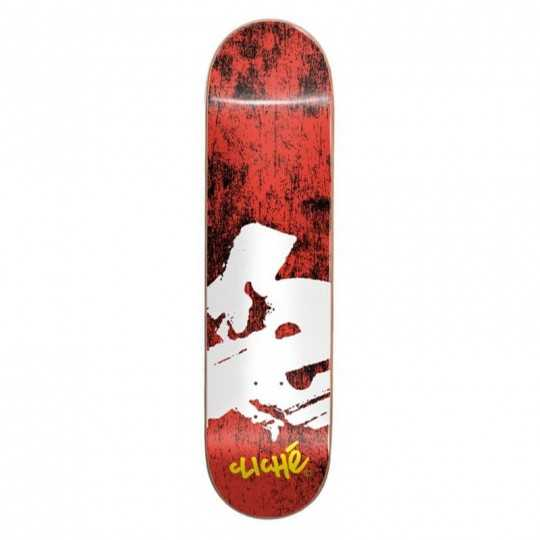 "Cliché Europe 8"" Red Skateboard Deck"