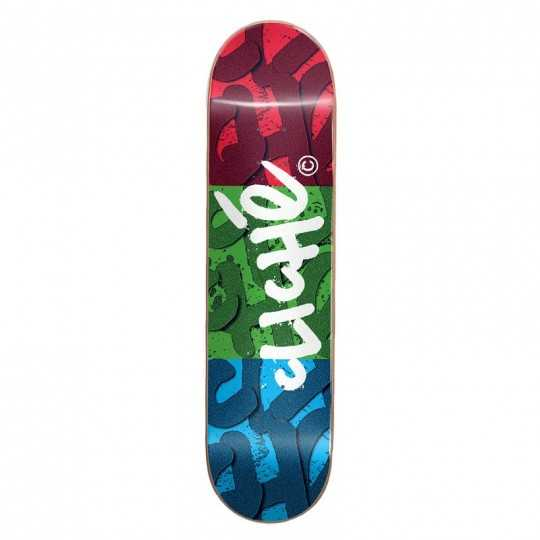 "Cliché RGB 8.25"" Red Green Blue Plateau Skateboard"