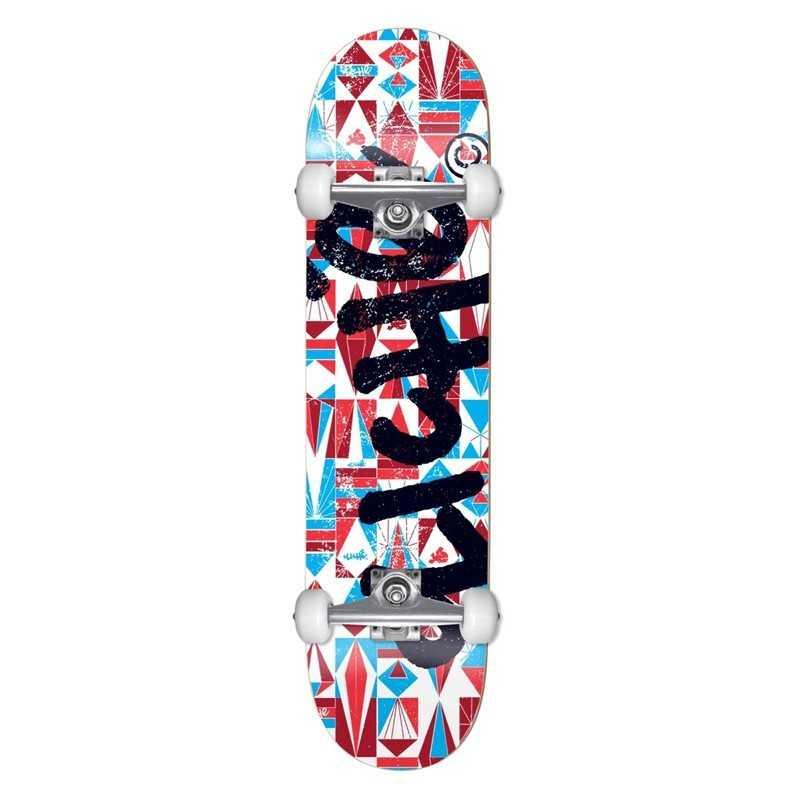 """Cliché Diamond 7.375"""" Blue Red Skateboard"""