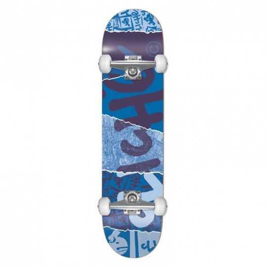 "Cliché Ripped 8"" Blue Skateboard"