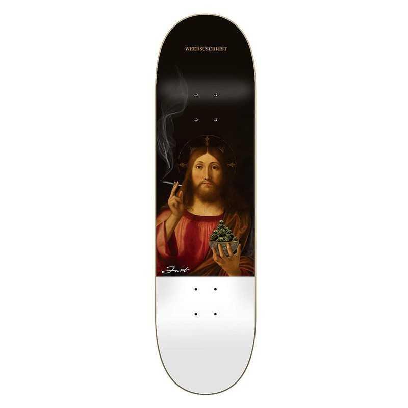 """Jart Renaissance II 8"""" HC Weedsuschrist Skateboard Deck"""